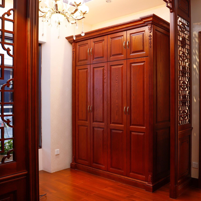 クラシック家具レッドオーク無垢材ベッドルーム Wardrode ( W3025 )