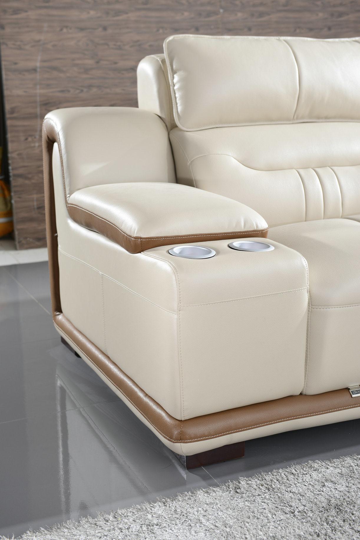 Foto de Color crema en forma de L Salón Muebles de hogar sofá de ...