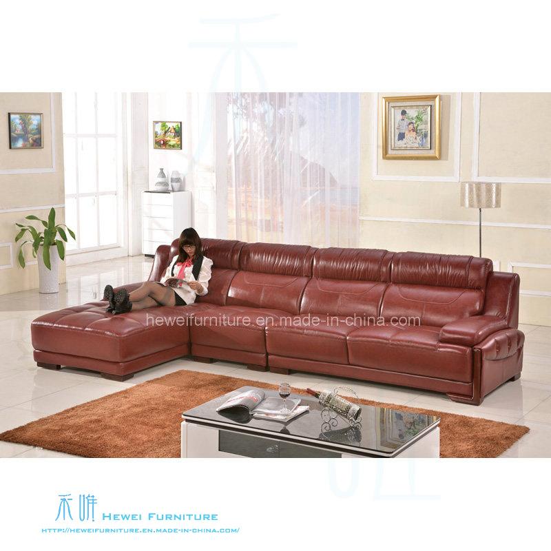 Coin salon moderne canapé en cuir pour la maison (HW-8207S) –Coin ...