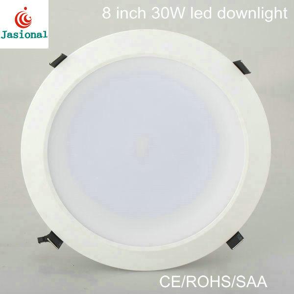 Super Heldere Dimmable leiden van 8 Duim onderaan Licht, LEIDENE Downlight 30W, leiden van 8 Duim kan Lichten