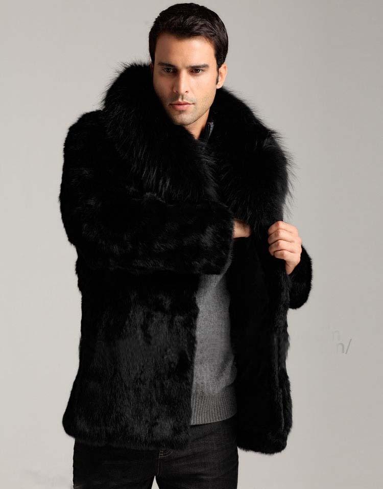 abrigo de piel moda piel hombres Faux caliente abrigo Mink de Venta wfFIzqg