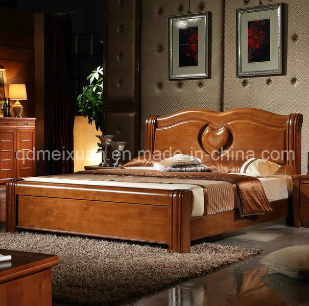 Foto de Cama de madera maciza modernas camas dobles MX2359 en es