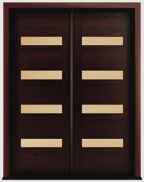 Foto de moderno de caoba de madera maciza puertas for Madera para puertas exteriores
