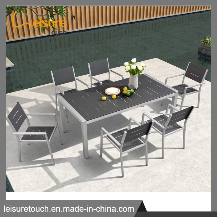 Patio moderne aluminium brossé ensemble canapé mobilier de jardin en ...