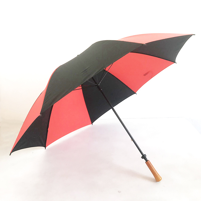 옥외 바람 증거 선전용 선물 Yuyang 똑바른 지팡이 골프 우산 단단한 나무 손잡이 상한 자동적인 우산