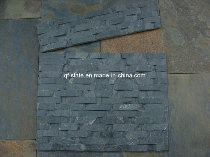 Piedra de pizarra exterior grey slate stack stone para facade panel piedra de pizarra exterior - Panel piedra exterior ...