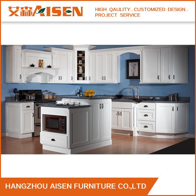 Muebles de cocina de estilo moderno de agitador de madera sólida ...