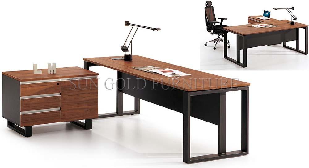 Bureau de bureau en mélamine de bois chaud avec bureau de