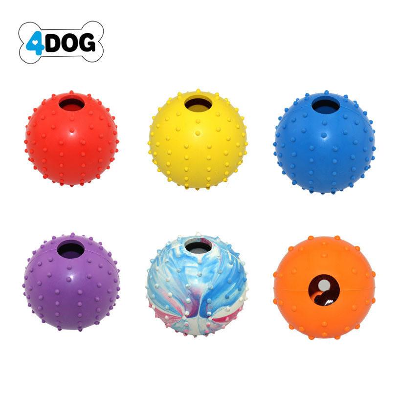 Giocattolo di gomma del cane della sfera