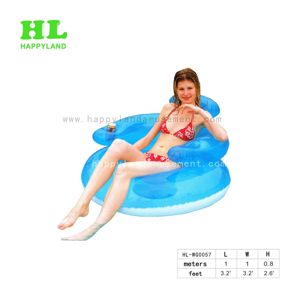 Exercices de vente chaude mignon petit canapé gonflables de siège pour les Jeux d'eau en plein air estivales Sunshining