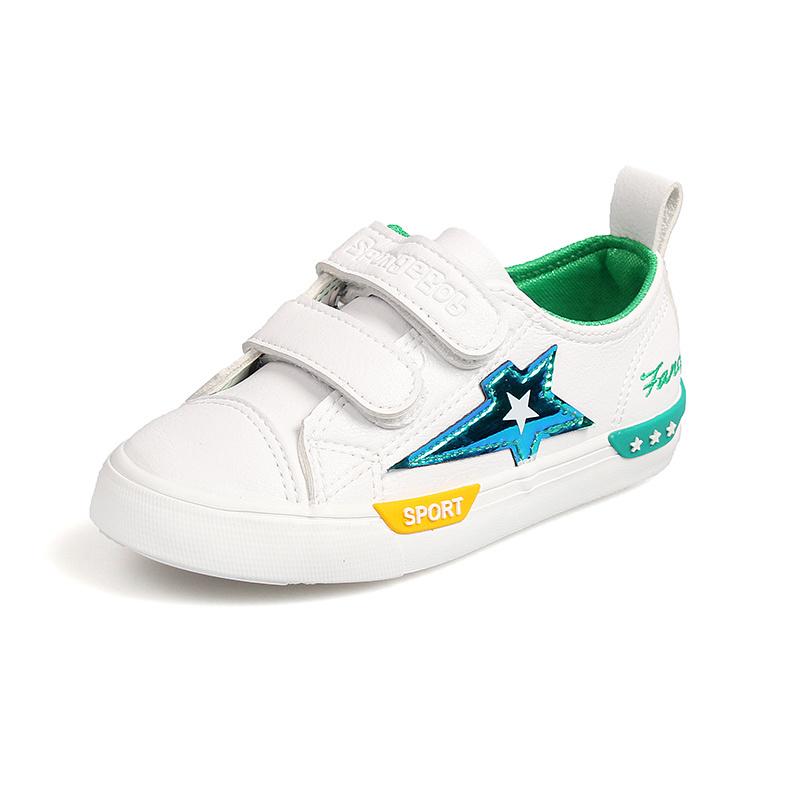Addestratore casuale bianco 7063 dell'addestratore dell'unità di elaborazione del nero di modo dei 2019 bambini di autunno della neonata di marca di sport del ragazzo di cuoio della scarpa da tennis