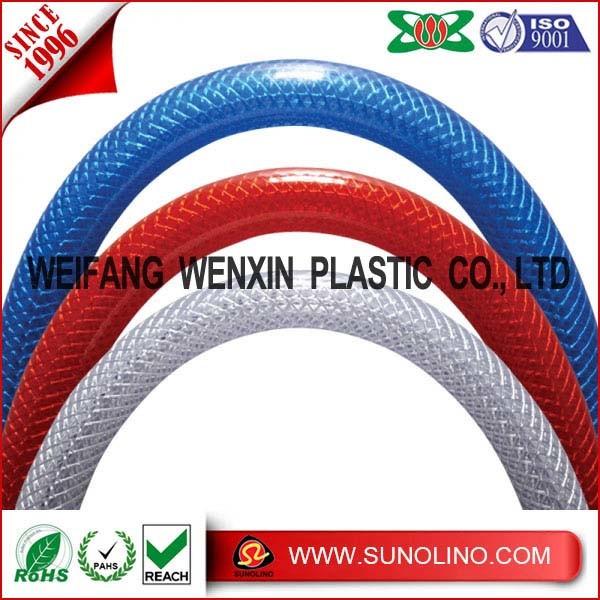 PVC編みこみの網のホース