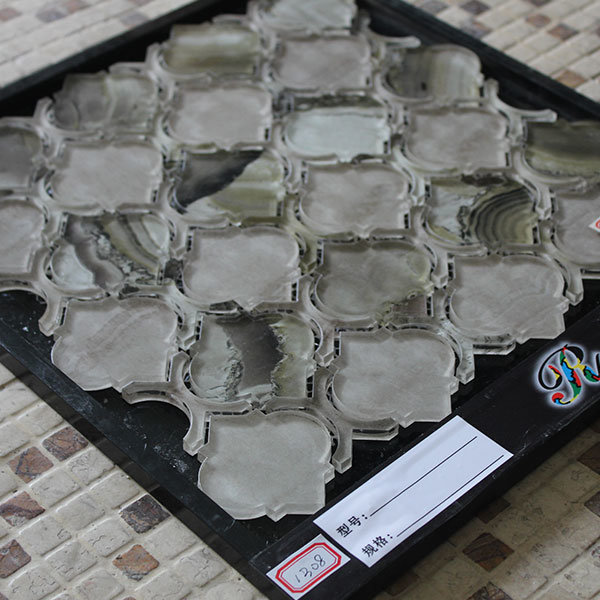 Venda a quente de jacto de água de forma Lanterna Mosaico Mosaico de vidro decorativo