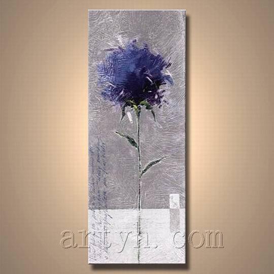 Peinture l 39 huile moderne de fleur de toile mdhh 1198 - Peinture fleur moderne ...