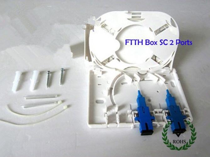 La caja de terminales de fibra óptica FTTH Sc 2 puerto