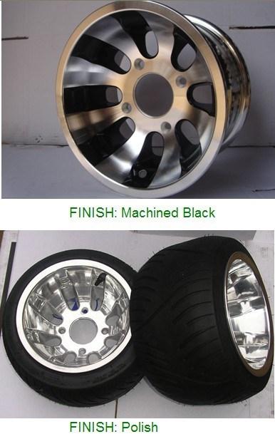 Sx 10インチATV/Golf/UTVのための12インチの合金の車輪