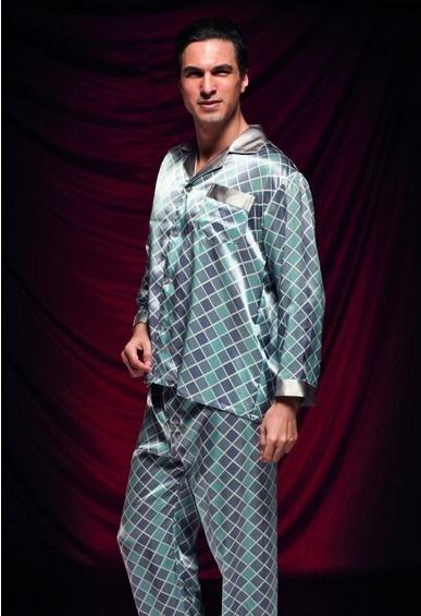100%년 뽕나무 실크 남자 Sleepwear 1