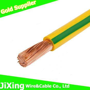 PVC-Isolierungs-gelbgrüner flexibler Erdung-Draht foto auf de.Made ...