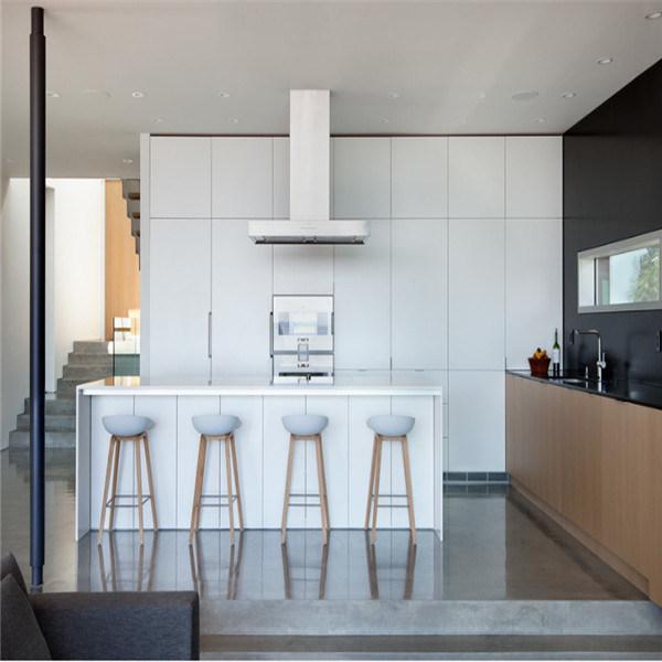 Estilo moderno y lujoso de la cocina de PVC blanco personalizado ...