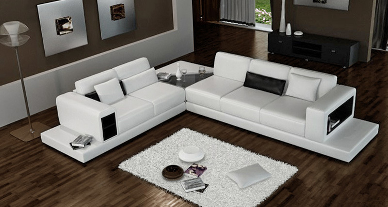 China L Form-Leder-Ecken-Sofa (AL226)