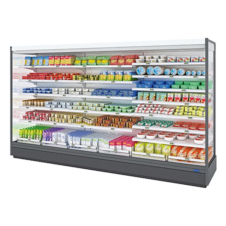 Erhöhte Nutzlast-Supermarkt aufrechte Refrigeratorv vertikale Multideck Bildschirmanzeige-Kühlvorrichtung