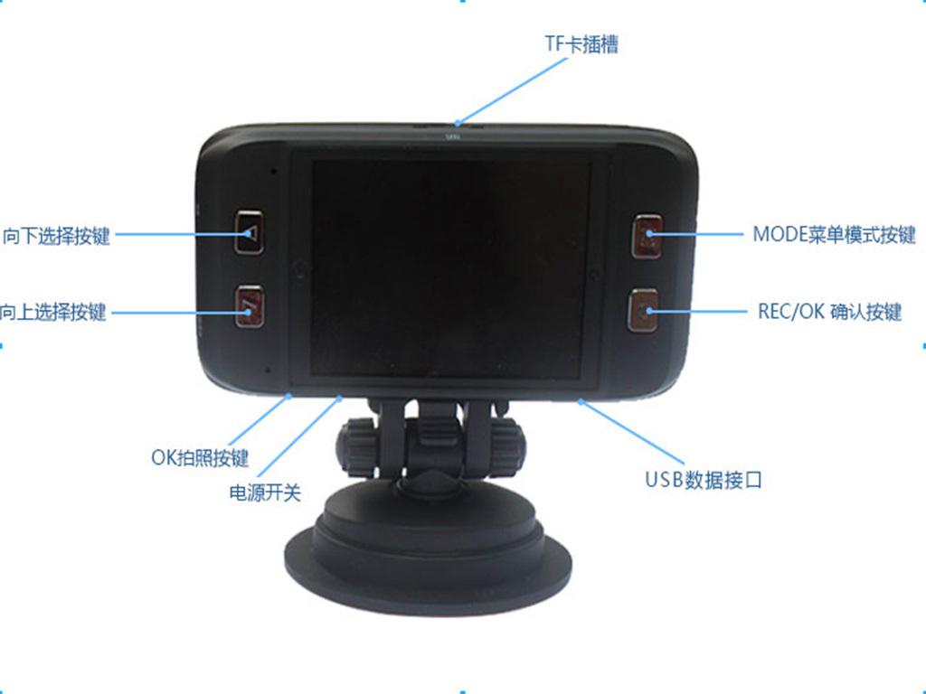 DVR per auto con uscita AV