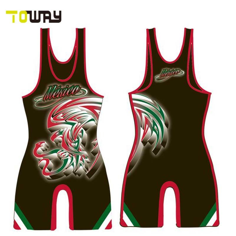 Sublimation Printing Youth Funny Wrestling Singlets