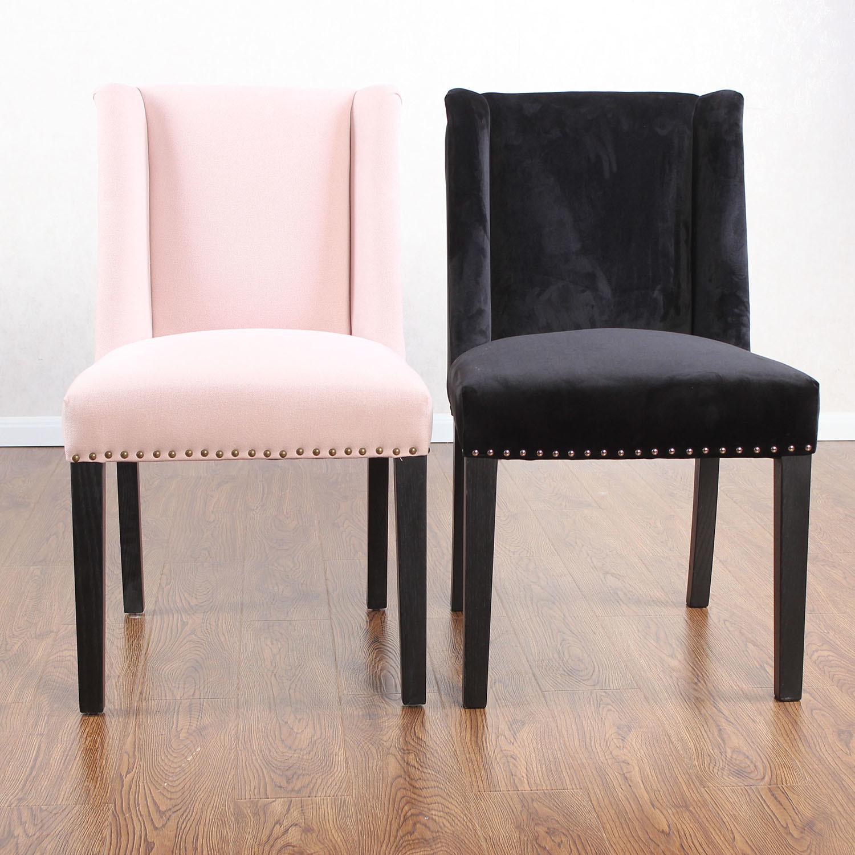 Foto de Nailhead Anillo de terciopelo tapizados sillas de comedor en ...