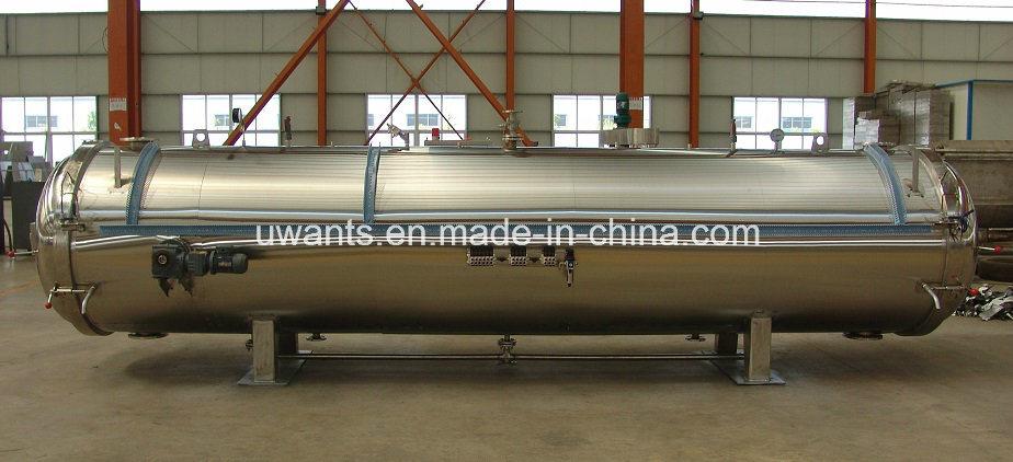 Industrieller Autoklav-horizontaler Gewürz-Dampf-Druckbehälter foto ...