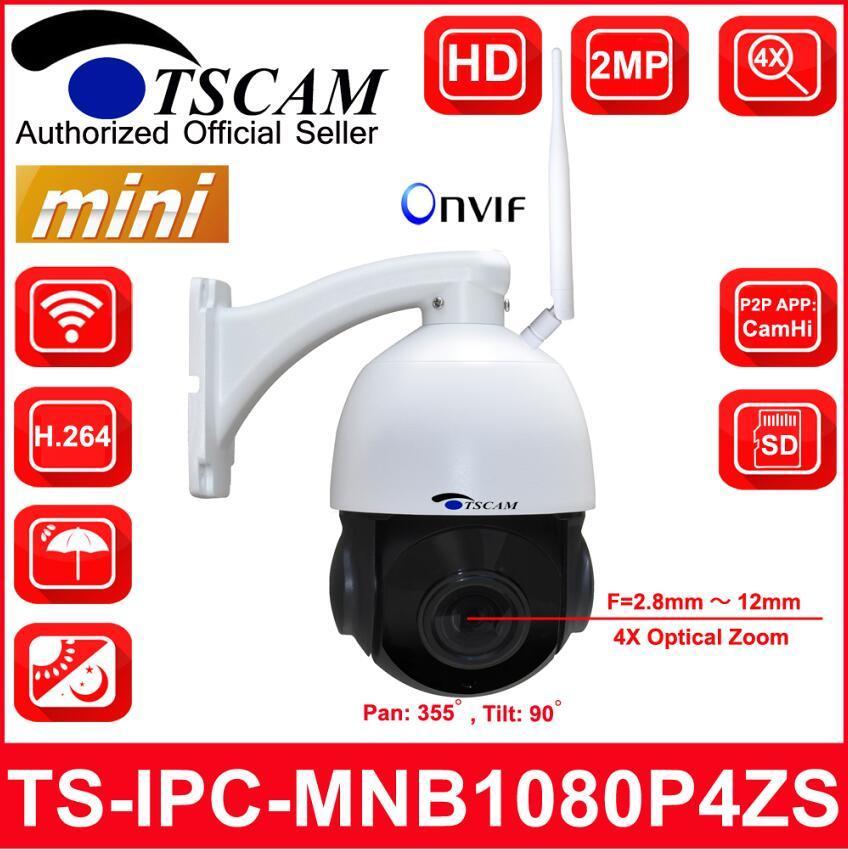 4pouces Mini 1080P 4X La sécurité sans fil IP caméra Speed Dome