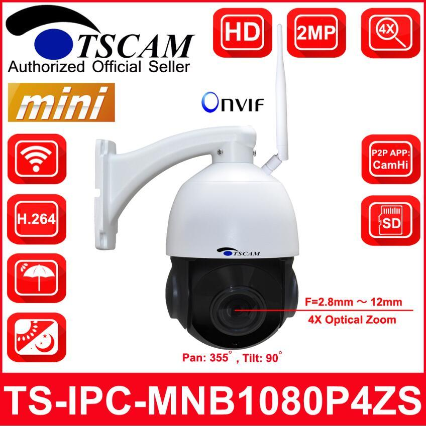 4 pulgadas Mini 4X 1080P de la seguridad inalámbrica IP Speed Dome Camera