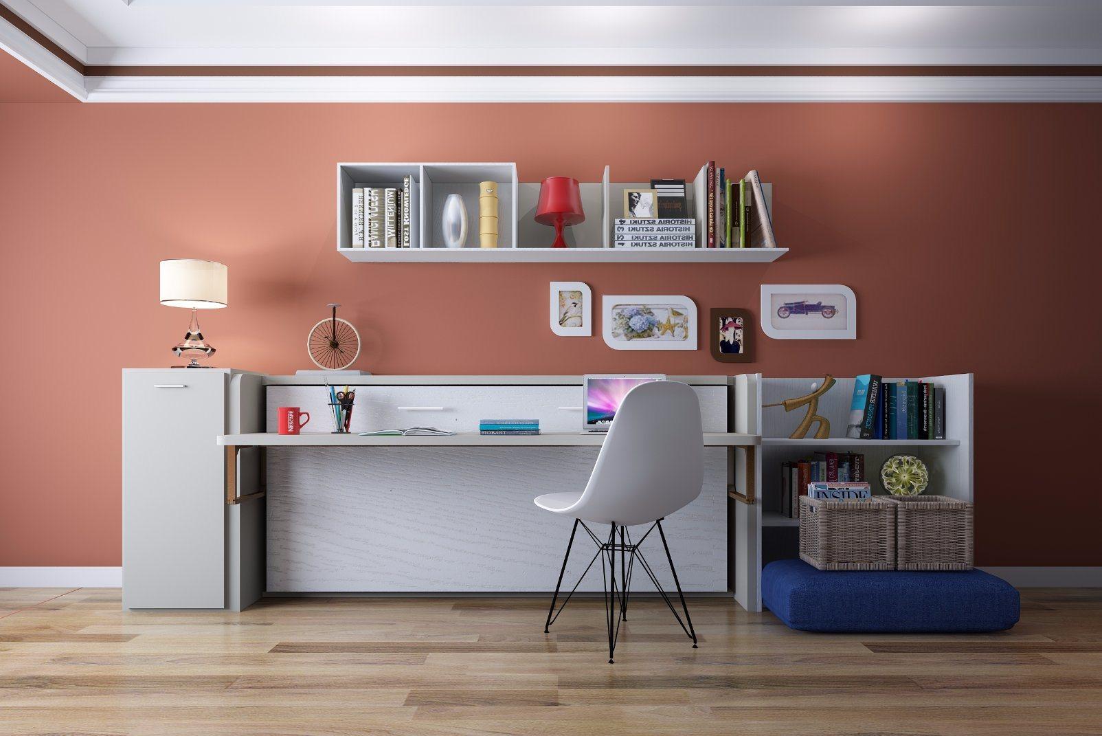 Bed In Woonkamer : Het bed van de muur van de bank van de woonkamer met het schrijven