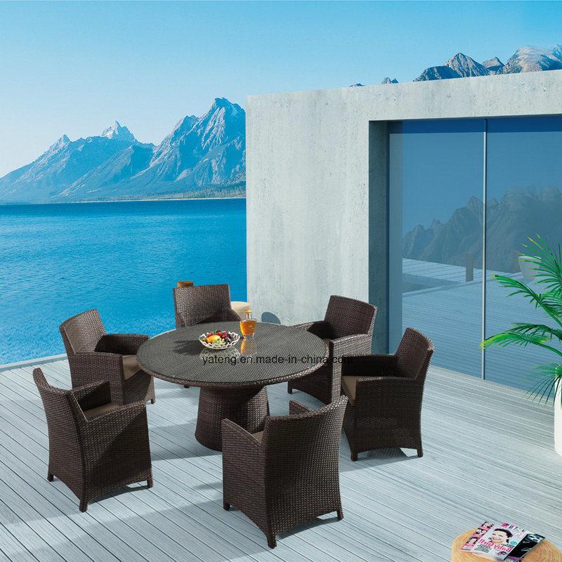 Foto de Mesa Redonda Grande mimbre mimbre muebles de exterior jardín ...