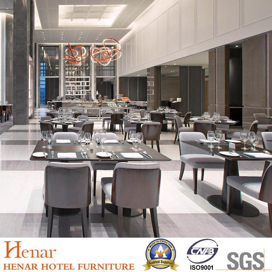 Nouveau luxe en bois massif de meubles de salle à manger du restaurant jeux avec table à manger carrée
