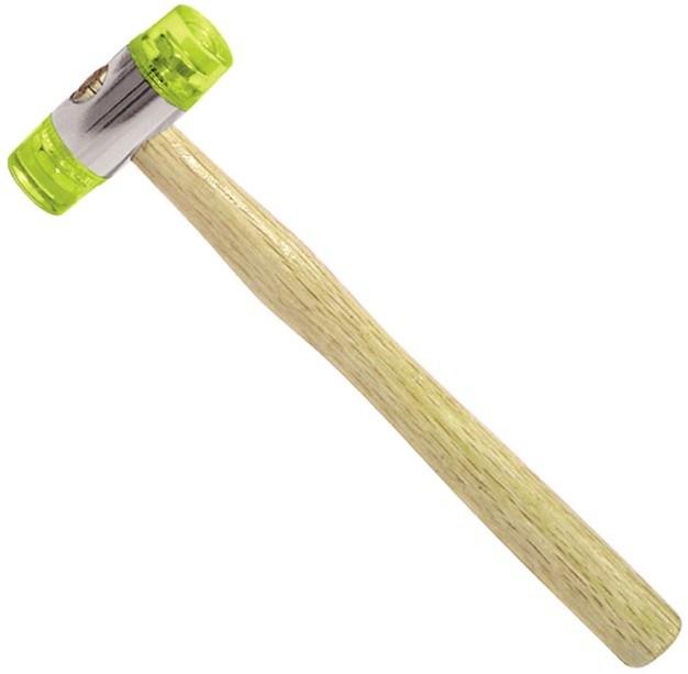 Martelo de duas vias com pega de madeira