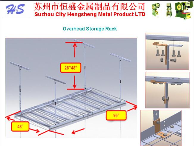 Foto de garaje para rack de techo el techo del garaje rack de almacenamiento estanter a - Estanterias para garaje ...