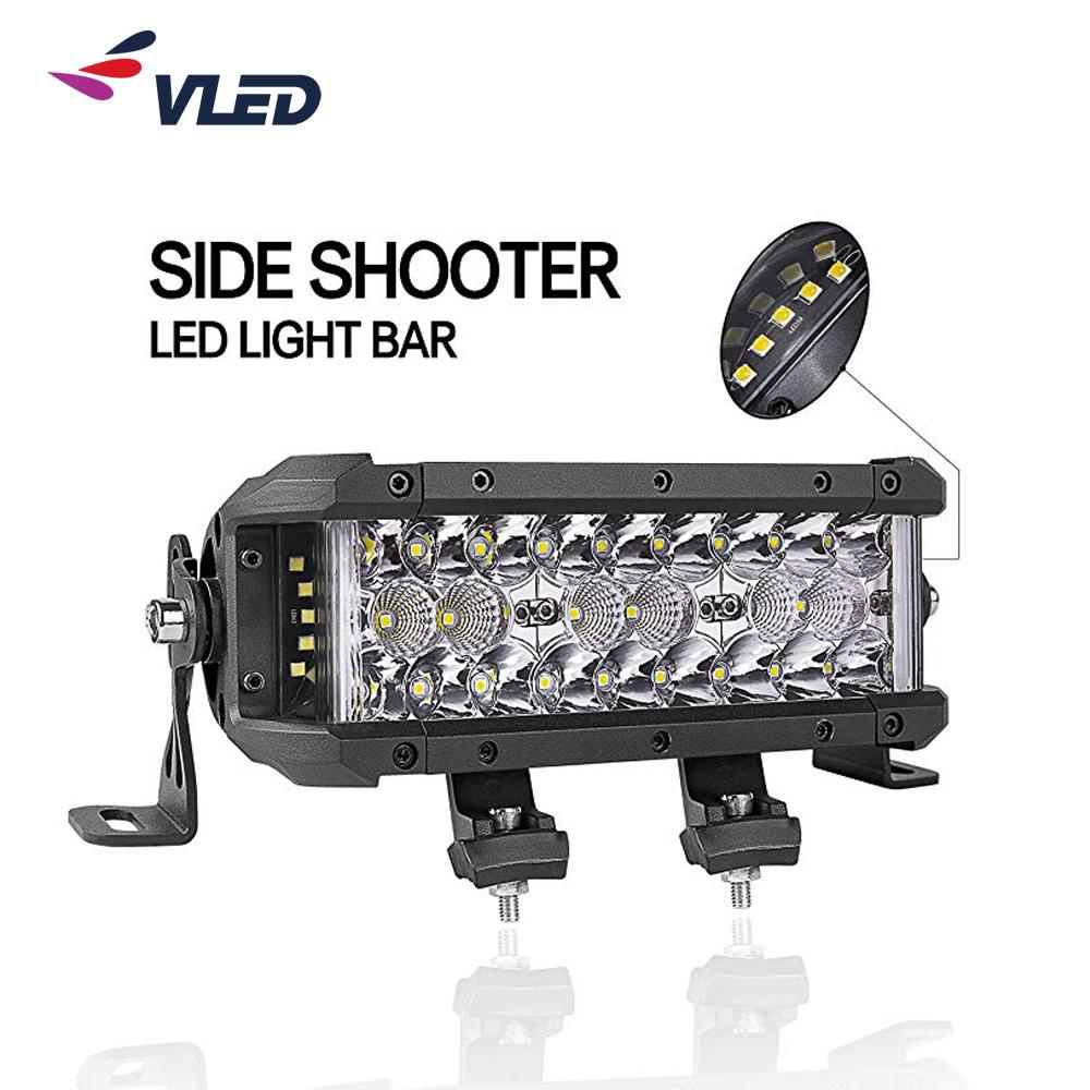 """8"""" 14"""" 22"""" LED de alta potência de luz Carro Bar do lado duplo Shooter Barra de Luzes automático para o SUV Jeep Offroad"""