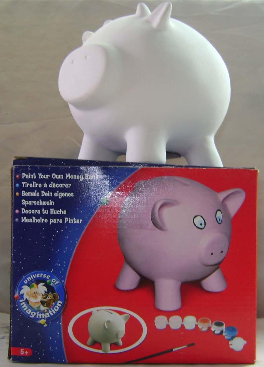 Contenitore di soldi, la Banca di ceramica, la Banca Piggy (la Banca di moneta) (UN001)