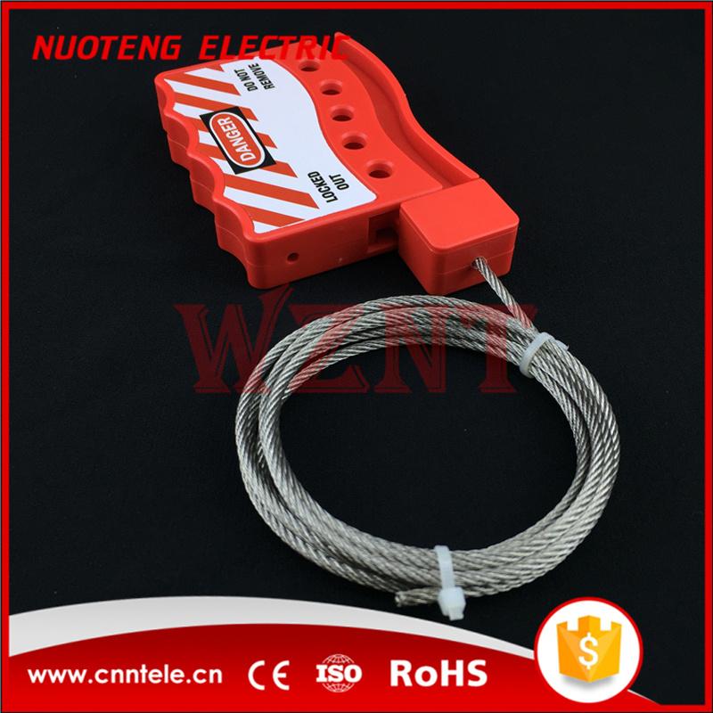 Bloqueio de cabo de nylon, com 3mm de diâmetro de cabo metálico com bainha de nylon, 1,8 m de comprimento