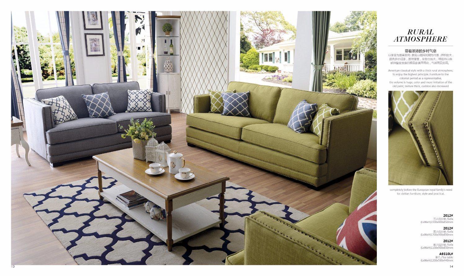 Form Amerikanisches Art Sofa Fur Die 1 2 3 Wohnzimmer Mobel Foto Auf De Made In China Com