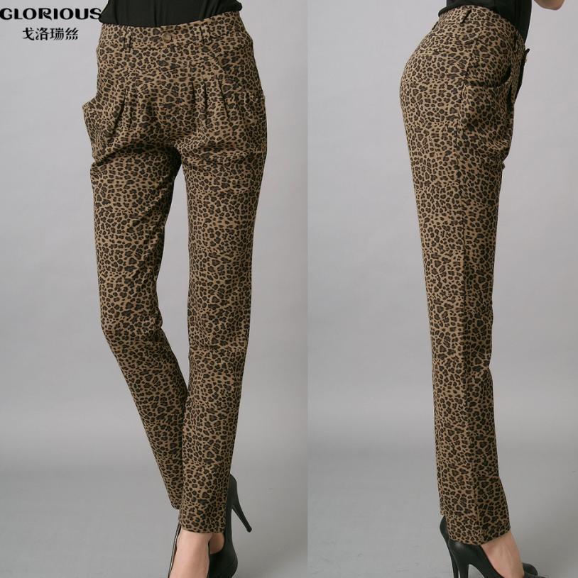 Senhoras Leopard Imprimir Harém Pants (GC125079-F5)