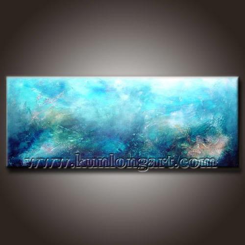 Pitture a olio moderne blu dell 39 estratto della decorazione - Pitture decorative moderne ...