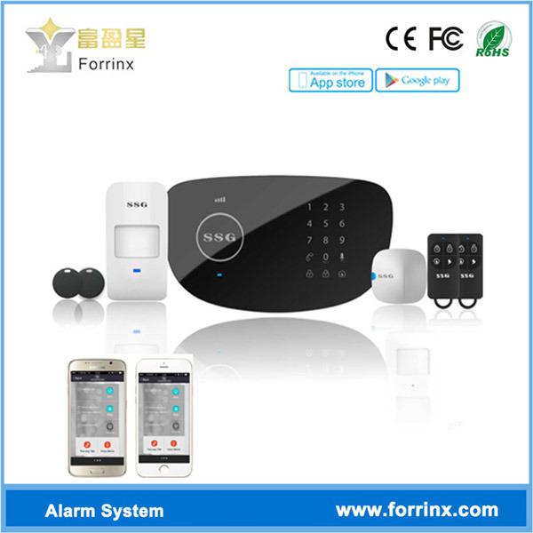 주택 안전 LCD 스크린을%s 가진 무선 강도 PSTN GSM 경보망
