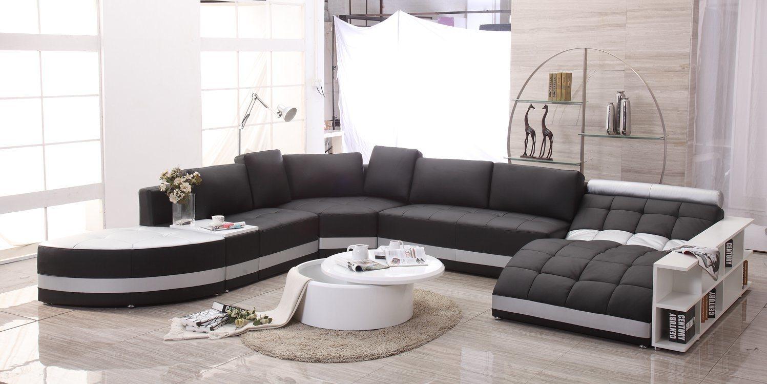 Foto de 2017 muebles de sal n moderno sof de cuero con for Ocio muebles
