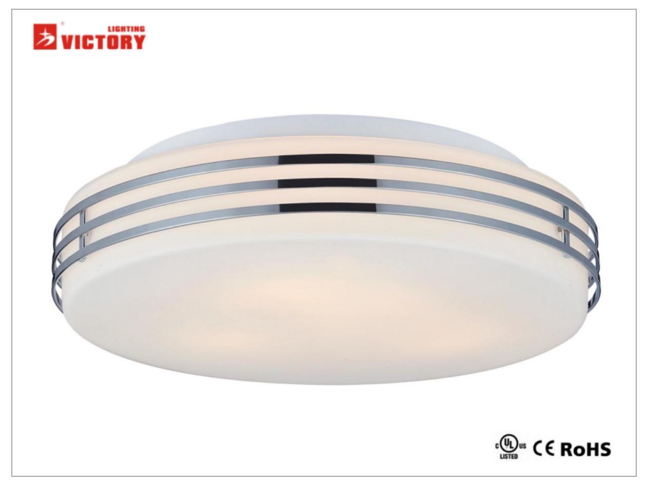 El diseño interior moderno de metal de cromo Cristal opal iluminación LED lámpara de techo