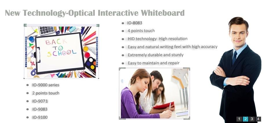 Attaccatura di parete Io 10 punti dello schermo di tocco Digital Whiteboard elettronico interattivo
