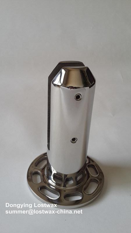 Ergots de verre en acier inoxydable avec plaque de base ronde