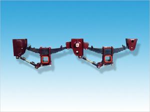 Rojo de acero de 3 ejes de suspensión mecánica