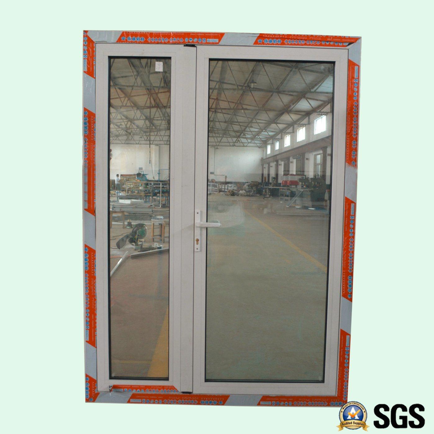 Puerta doble de aluminio revestida del marco del marco del polvo ...