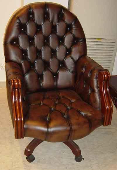 Кожаный стул шарнирного соединения